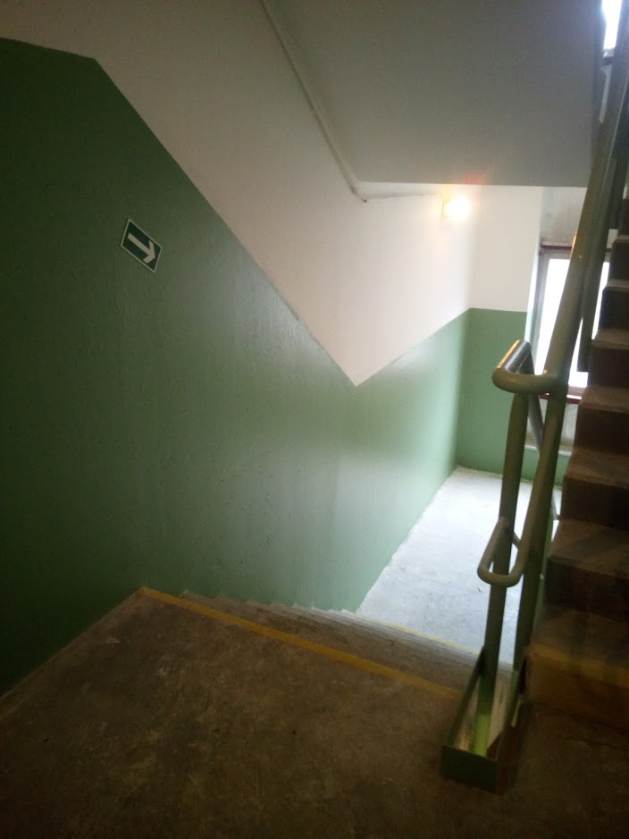Výmalba schodiště - nátěr hotov